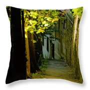 Romantic Sidewalk Throw Pillow