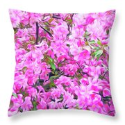 Romantic Skies Apple Blossoms  Throw Pillow