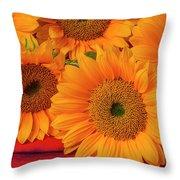Romantic Sunflowers Throw Pillow