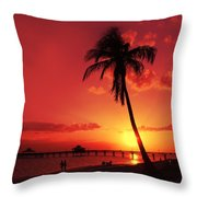 Romantic Sunset Throw Pillow by Melanie Viola