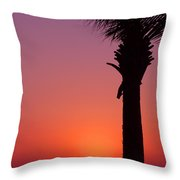 Romantic Sunset Throw Pillow