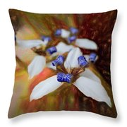 Romantic Textured Island Lilies  Throw Pillow