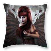 Romantic Vampire's Moon Throw Pillow