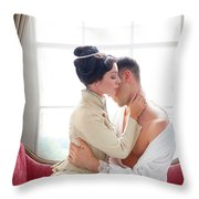 Romantic Victorian Couple Throw Pillow