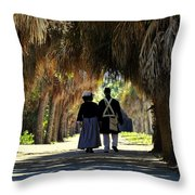 Romantic Walk 1870 Throw Pillow