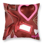 Romantic Theme Cookie Cutters Throw Pillow