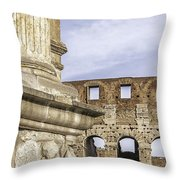 Rome Arch Of Titus Sculpture Detail Throw Pillow