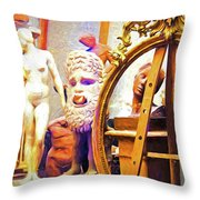 Rome Artist's Window Throw Pillow
