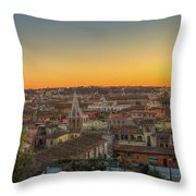 Rome At Sunset Throw Pillow