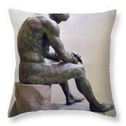 Rome Boxer Sculpture Throw Pillow by Granger