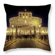 Rome Castel Sant Angelo Throw Pillow