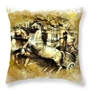 Rome Chariot  Throw Pillow