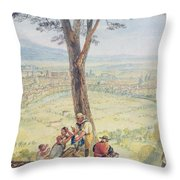 Rome From Monte Mario Throw Pillow