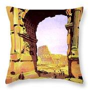 Rome, Italy, Rome Express Railway Throw Pillow