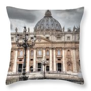 Rome Italy St. Peter's Basilica Throw Pillow