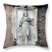 Rome Italy Statue Throw Pillow