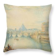 Rome Throw Pillow by Joseph Mallord William Turner