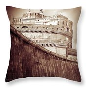 Rome Monument Architecture Throw Pillow