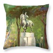 Rome Piazza Albania Throw Pillow