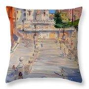 Rome Piazza Di Spagna Throw Pillow