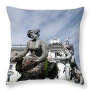 Rome Piazza Throw Pillow