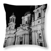 Rome - Piazza Navona - A View 3 Throw Pillow