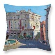 Rome Piazza Republica Throw Pillow