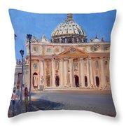 Rome Piazza San Pietro Throw Pillow