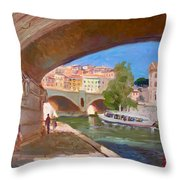 Rome Ponte Vittoria Emanuele Throw Pillow