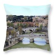 Rome River Throw Pillow