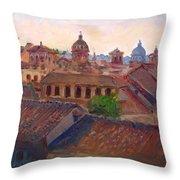 Rome Seen From Campidoglio Throw Pillow