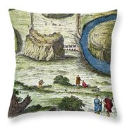 Rome: Seven Hills, 18th C Throw Pillow