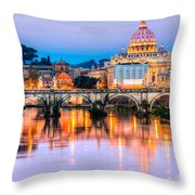 Rome - St Peter  Throw Pillow