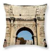 Rome - The Arch Of Constantine 3 Throw Pillow