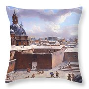 Rome Under The Snow Throw Pillow