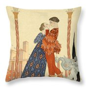 Romeo And Juliette Throw Pillow