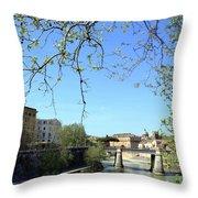 Rome's River Throw Pillow