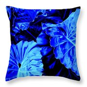 Romney Blue Throw Pillow
