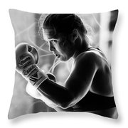 Ronda Rousey Fighter Throw Pillow