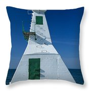 Rondeau Lighthouse Throw Pillow