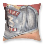Rondo's Fire Helmet Throw Pillow