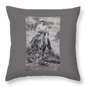 Ronnie And Red Man Throw Pillow