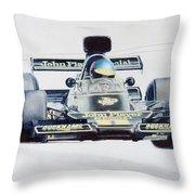 Ronnie Peterson - Lotus 76 Throw Pillow