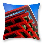Roof Corner - Expo China Pavilion Shanghai Throw Pillow