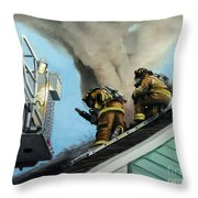 Roof Is Open Throw Pillow