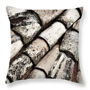 Roof Tile Abstract Throw Pillow