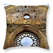 Roofless Church Abbazia Di San Galgano Throw Pillow