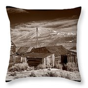 Rooflines Bodie Ghost Town Throw Pillow