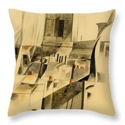 Roofs And Steeple Throw Pillow