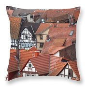 Roofs Of Bad Sooden-allendorf Throw Pillow